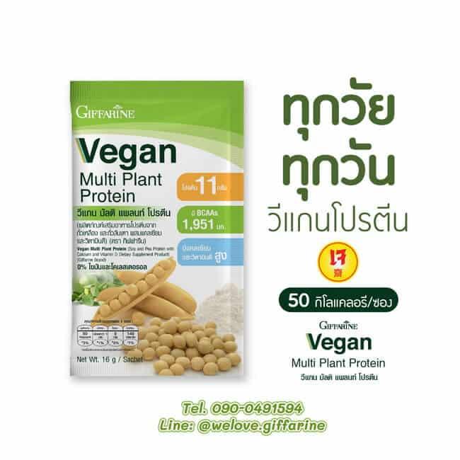 กิฟฟารีน วีแกนโปรตีน, โปรตีนจากพืช