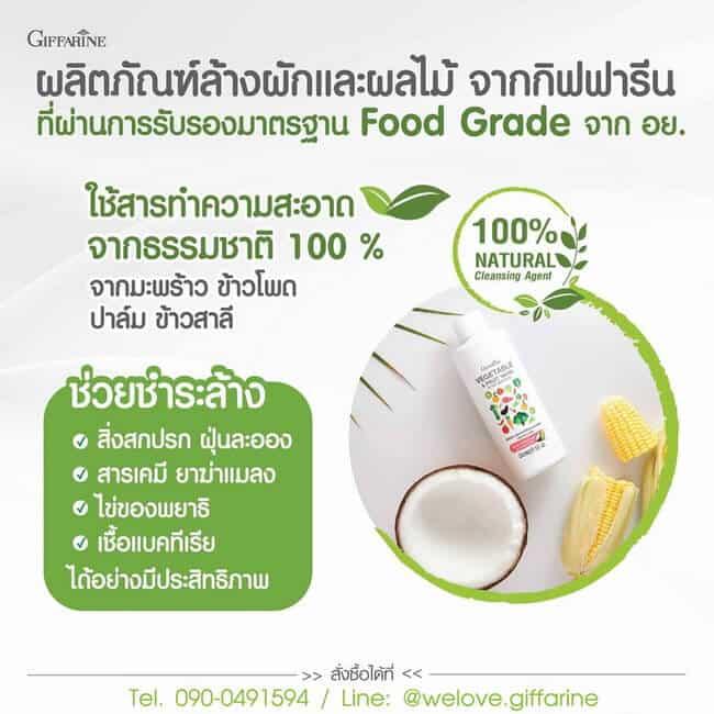 น้ำยาล้างผักและผลไม้ กิฟฟารีน, Vegetable & Fruit Wash