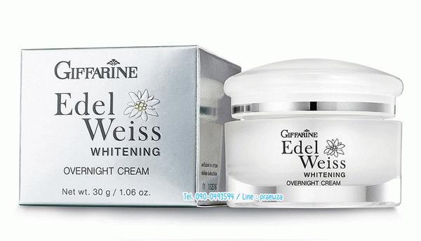 เอดดัลไวส์-ไวท์เทนนิ่งโอเวอร์ไนท์-Giffarine-Edelweiss-Whitening-Overnight-Cream_01