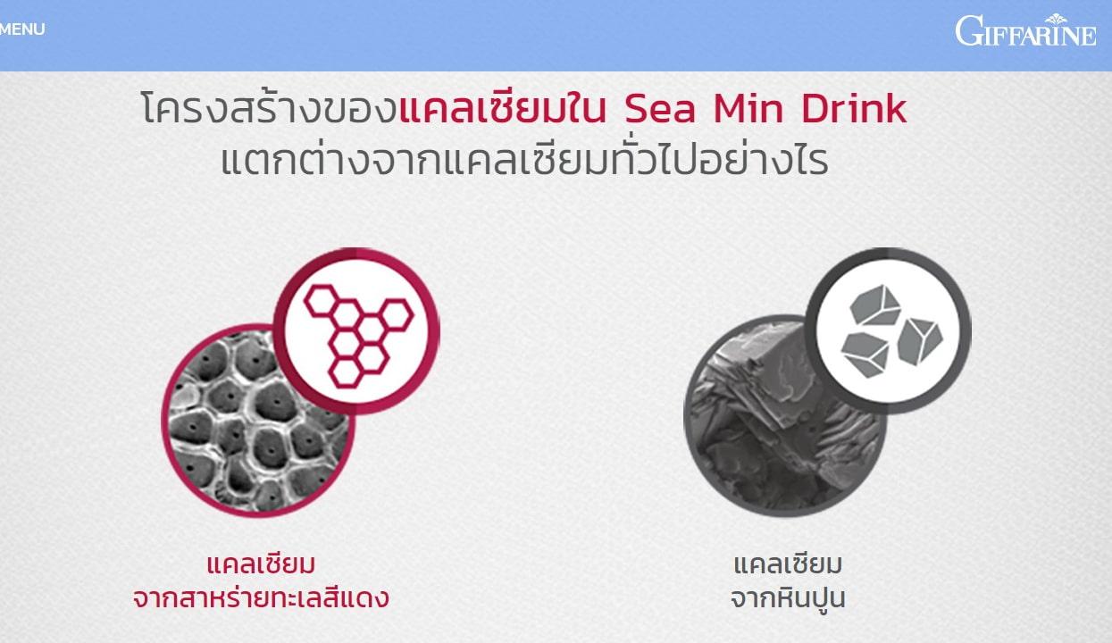 ซีมิน ดริ๊งค์ กิฟฟารีน, โฆษณากิฟฟารีน อั้ม, แคลเซียมที่อั้มเลือก, Giffarine Sea Min Drink, แคลเซียมน้ำ, แคลเซียมจากสาหร่ายแดง กิฟฟารีน, ซี มิน ดริ๊งค์ ดีอย่างไร